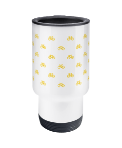mini bikes yellow travel mug 2