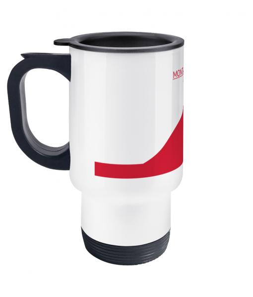 Mont Ventoux red travel mug