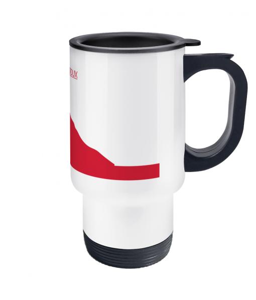 ventoux red thermos mug