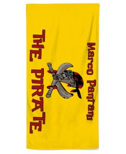 marco pantani beach towel