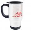 red bike thermal mug