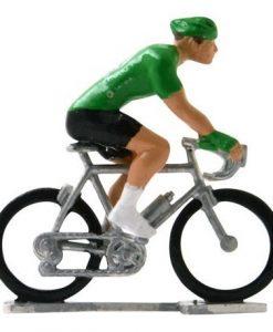 green jersey hi def mini cyclist green-jersey-h-w-miniature-cyclists