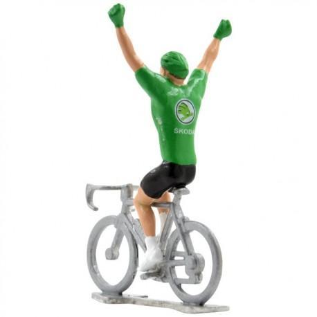 mini cyclist green jersey winner