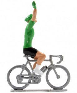 green jersey winner mini cyclist