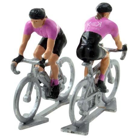 female mini cyclist figurine
