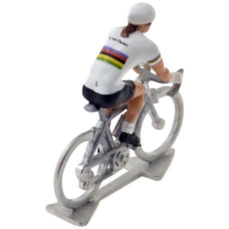 mini cyclist figure female
