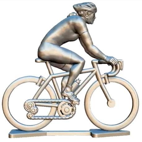 personalised mini cyclist figurine female