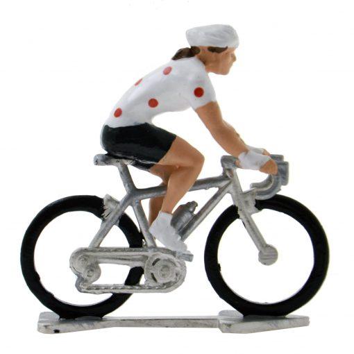 female mini cyclist polka dot