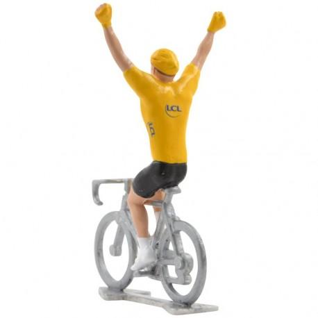 tdf yellow jersey winner cyclist figurine