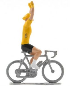 yellow jersey winner cycling figure