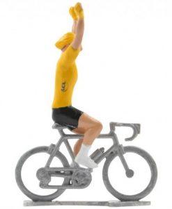 yellow jersey winner cycling figure