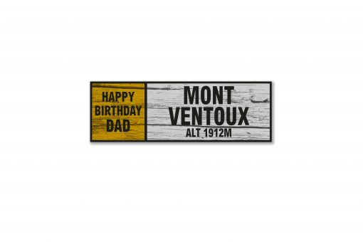 mont ventoux personalised wall sign