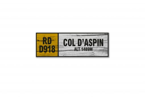 col d'aspin wall sign
