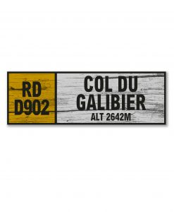 col du galibier wall sign