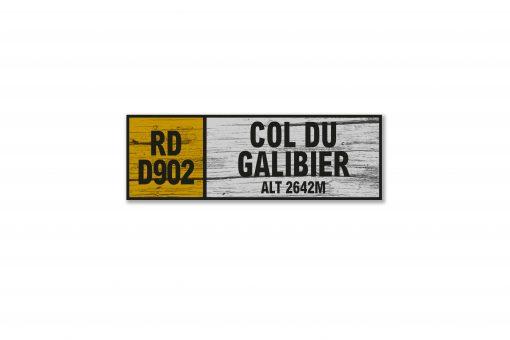 col du galibier wall sign