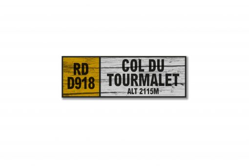 col du tourmalet wall sign