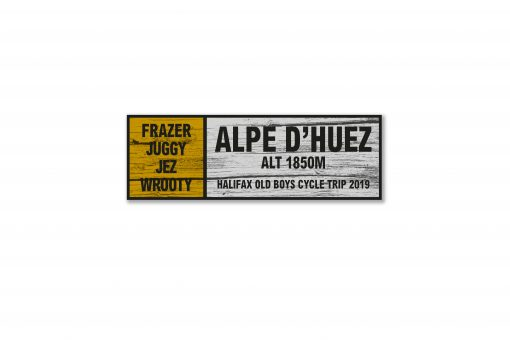 alpe d huez personalised wall sign