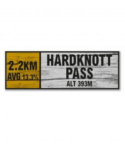 Hardknott Pass wall sign