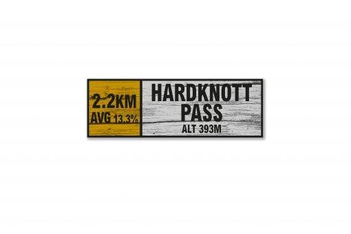Hardknott Pass wall sign