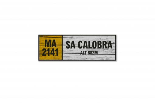 sa calobra wall sign