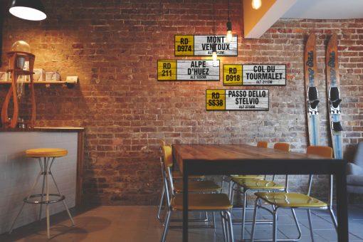 cycling wall signs