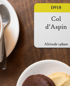 col d'aspin yellow band coaster