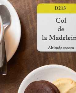 col de la madeleine yellow band coaster