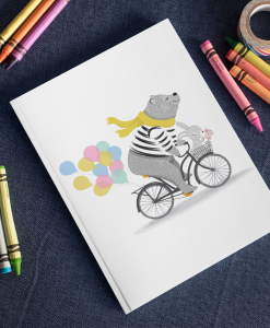 Bear And Rabbit Bicycle notebook