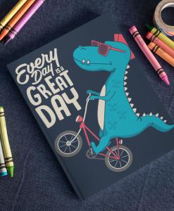 Dinosaur On A Bike notebook