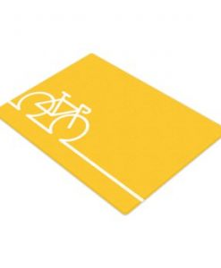 yellow bike cutting board
